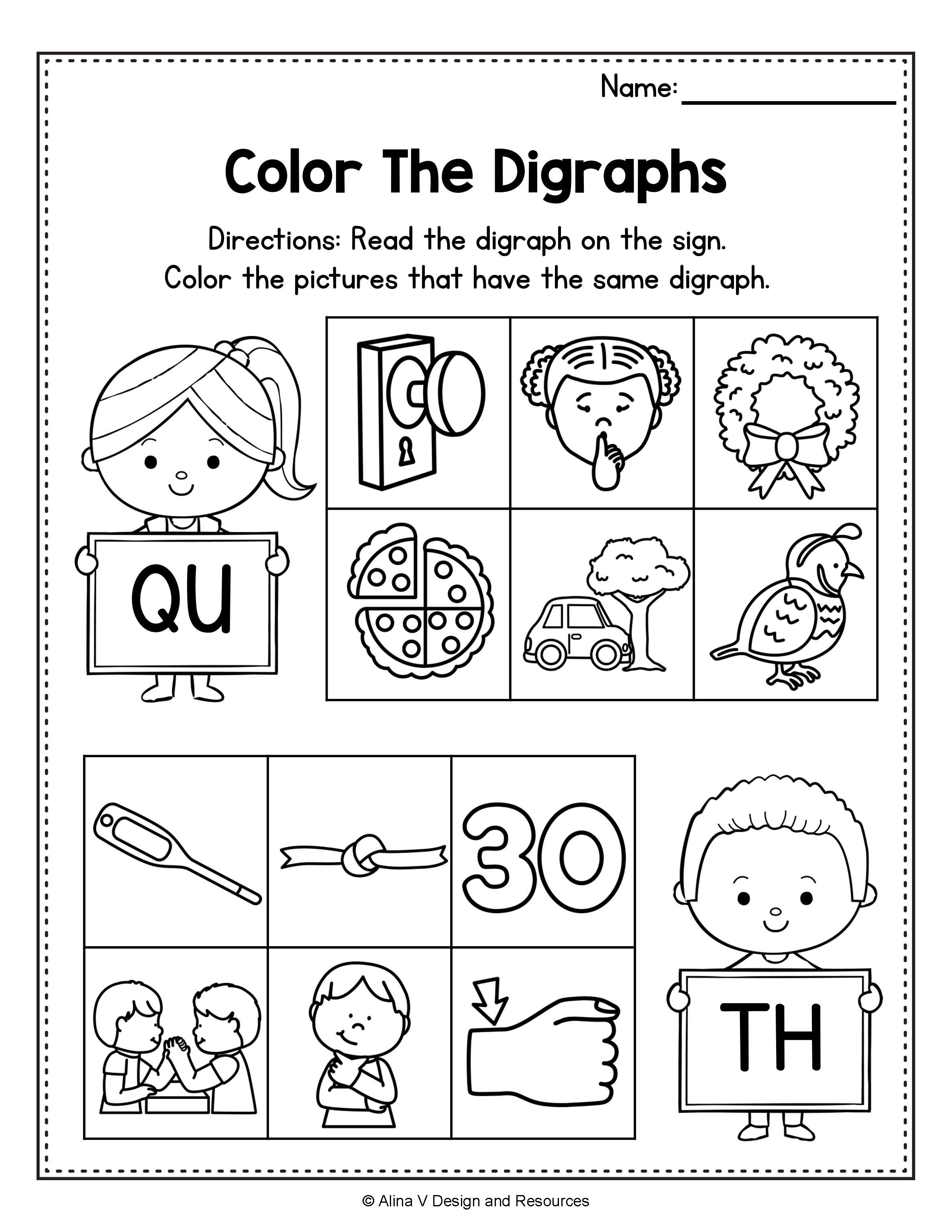 Consonant Digraphs Worksheets Sh Ch Th Wh Ph Kn Wr Qu Writing Mini Lessons Digraph 2nd Grade Activities [ 3069 x 2371 Pixel ]
