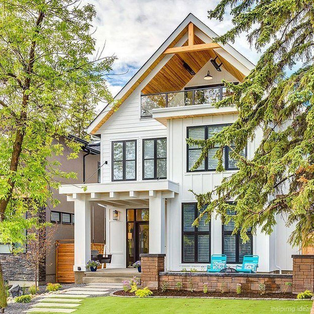 Modern Farmhouse Exterior Designs 11: Adorable 75 Simple Modern Farmhouse Exterior Design Ideas