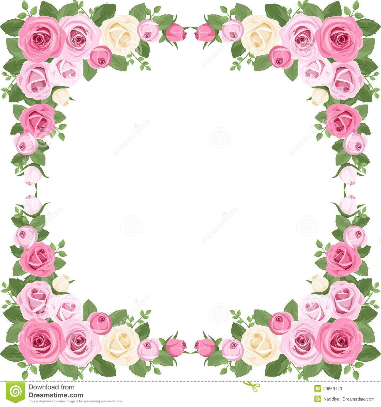 Vintage Roses Frame Vector Illustration Stock Vector Illustration Of English Element 29669123 Rose Frame Cherry Blossom Wall Art Pink Background Images