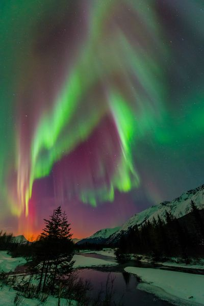 Aurora Borealis Alaska I Was Lucky Enough To See An Amazing Aurora In Fairbanks Alaska Blog Carljohn Aurora Borealis Alaska Aurora Boreal Northern Lights