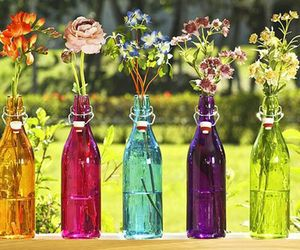 Pin by `A M on DIY & Crafts | Bottles decoration, Colored ...