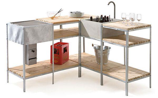 Sommerküche Module : Waschtisch modul küche pinterest küche garten küche und garten