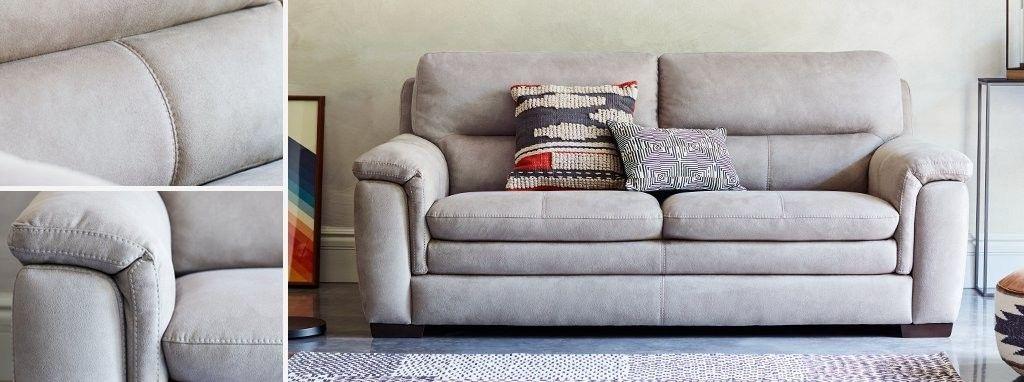 Elm Fabric 3 Seater Sofa Express
