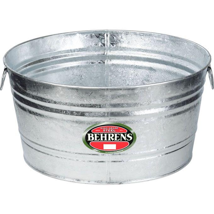 17 Gallon Round Tub Steel Tub Metal Tub Beverage Tub