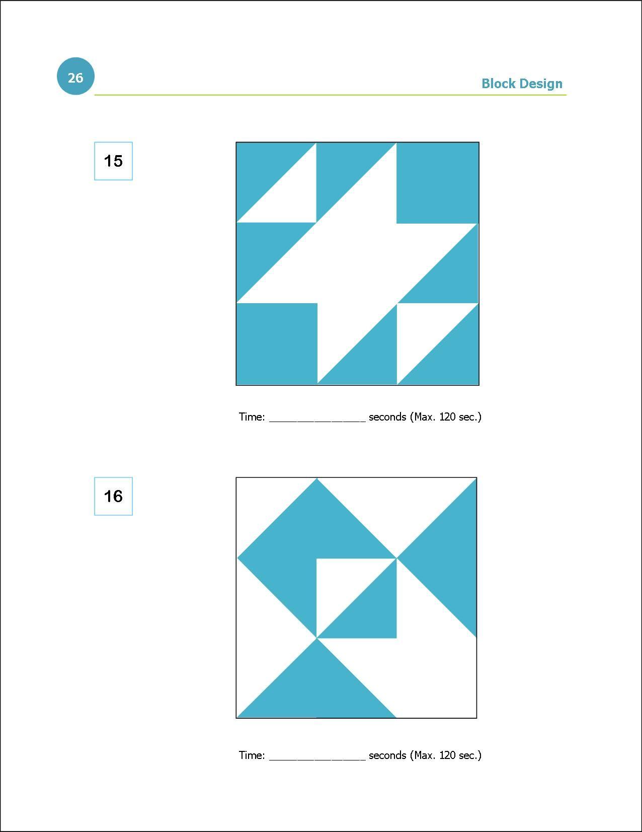 how to solve block design iq