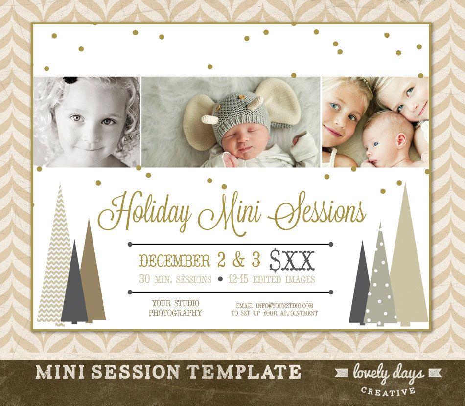 Christmas Mini Session Template Marketing By LovelyDaysCreative