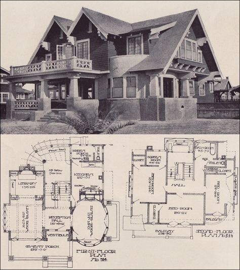 Delorme Designs Awesome Bungalow Craftsman: Awesome 1912 Craftsman House Plan Design No. 514 1912 LOS