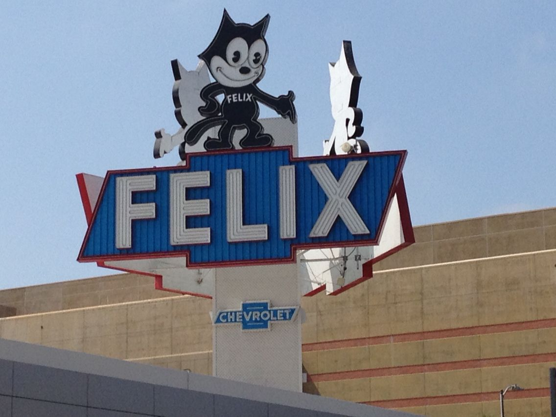 Felix Chevrolet Sign, Los Angeles, CA. Photo By Me