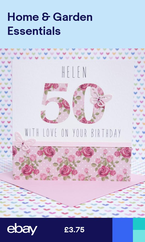 Personalised Handmade Birthday card 21st,30th,40th,50th