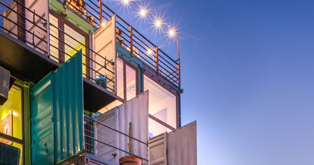 Shipping Container Hotel Winebox Valparaiso Chile