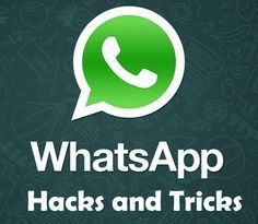 There are so many hidden or undiscovered hacks and tricks in WhatsApp that you may not be....Here are most useful tips and tricks available for WhatsApp..