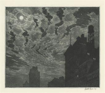 Martin Lewis 'Winter Moon'