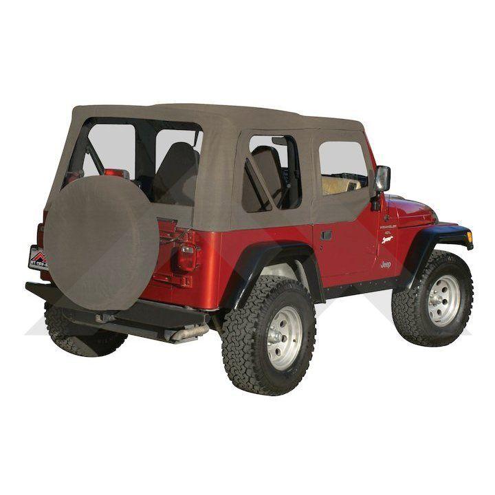 Complete Soft Top Khaki Diamond Jeep Wrangler Tj Soft Tops Jeep Wrangler