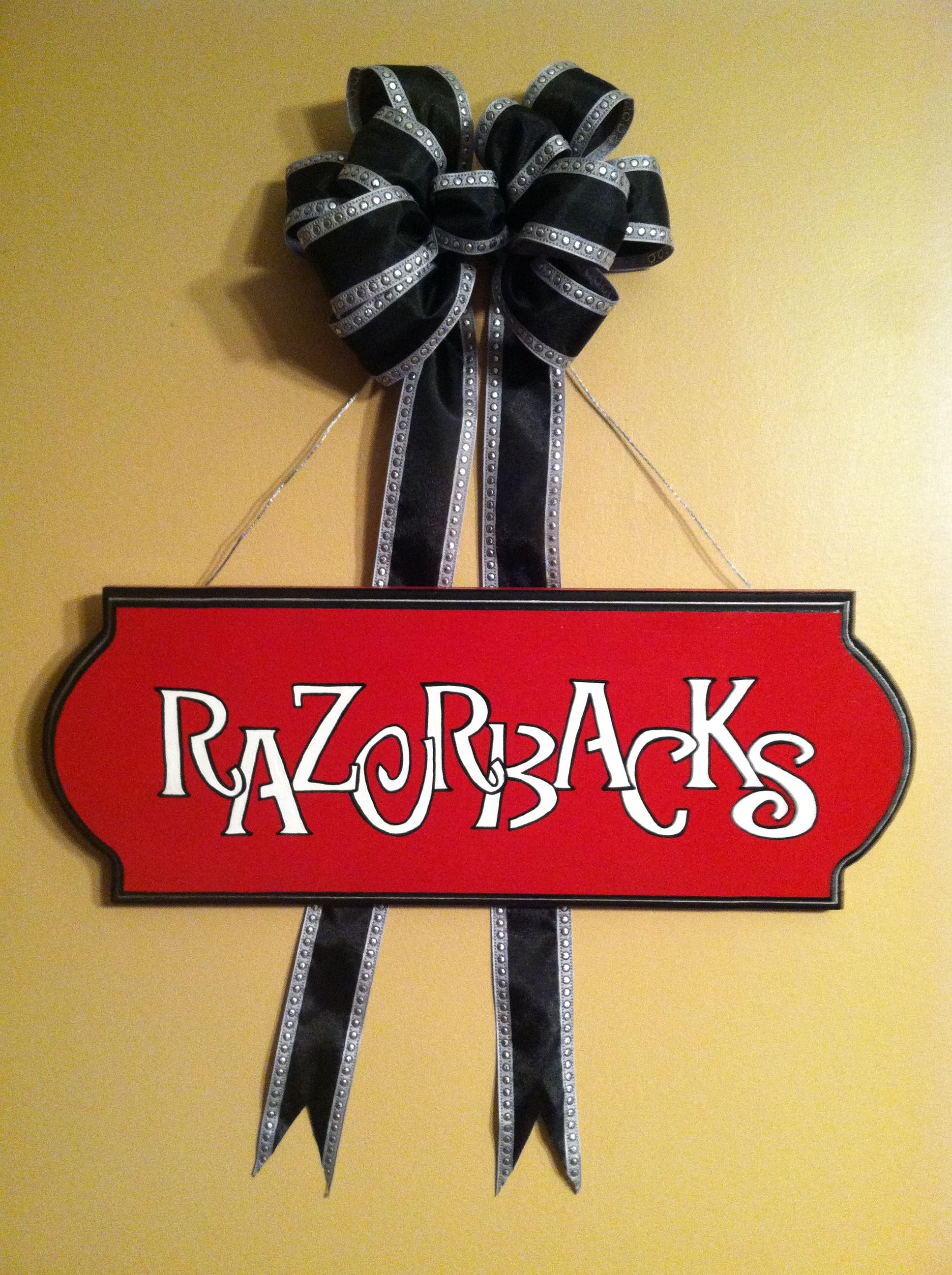 pin arkansas my razorback canvas pinterest decor creations flag on