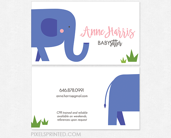 babysitter business cards nanny business cards au pair business cards child