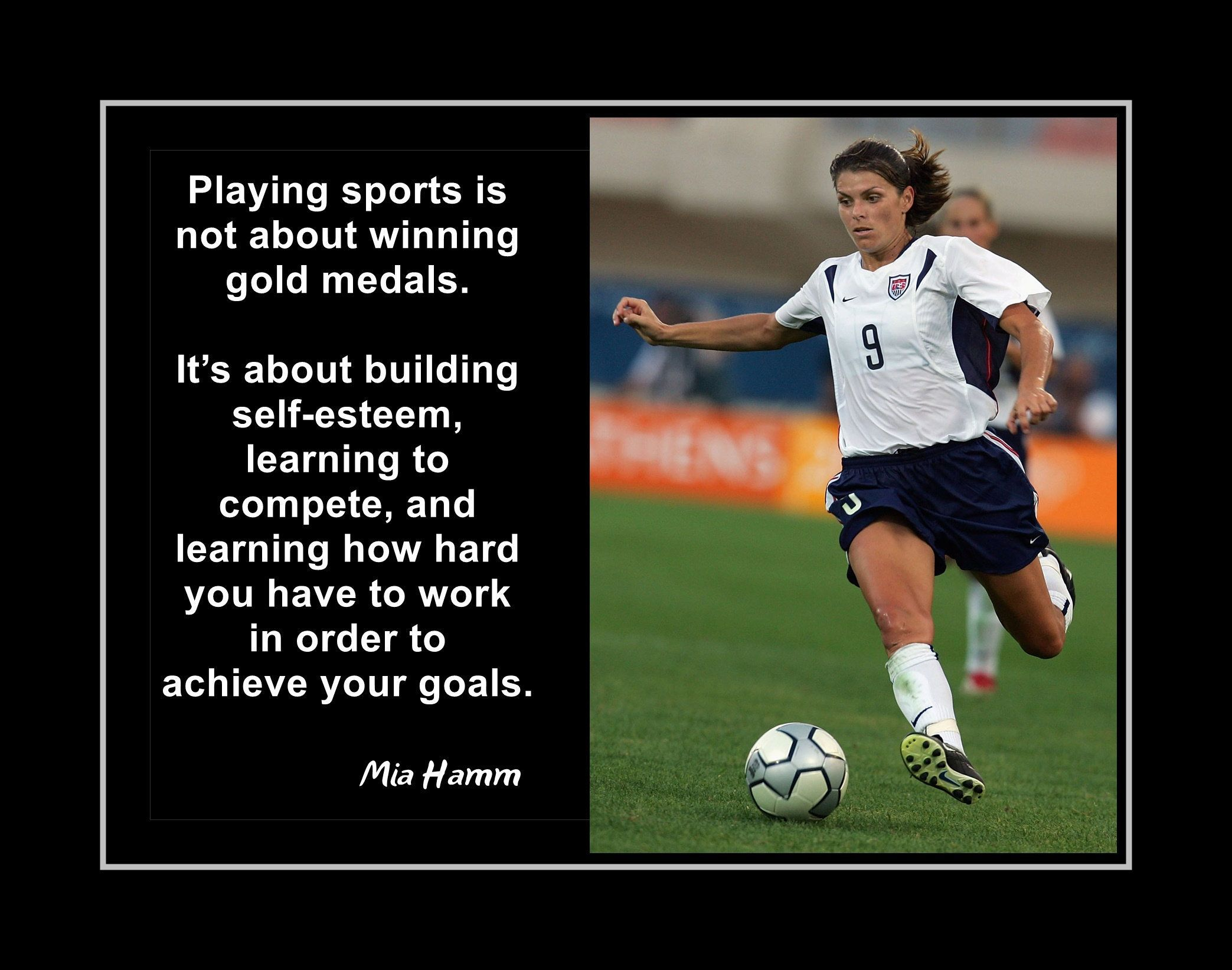 Mia Hamm Kids Motivational Quote Wall Decor Girl Soccer Photo Inspirational Poster W In 2020 Inspirational Soccer Quotes Soccer Quotes Inspirational Quotes Wall Art