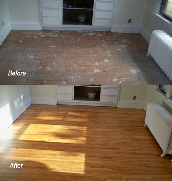 Another Great Before And After Refinishing Hardwood Floor