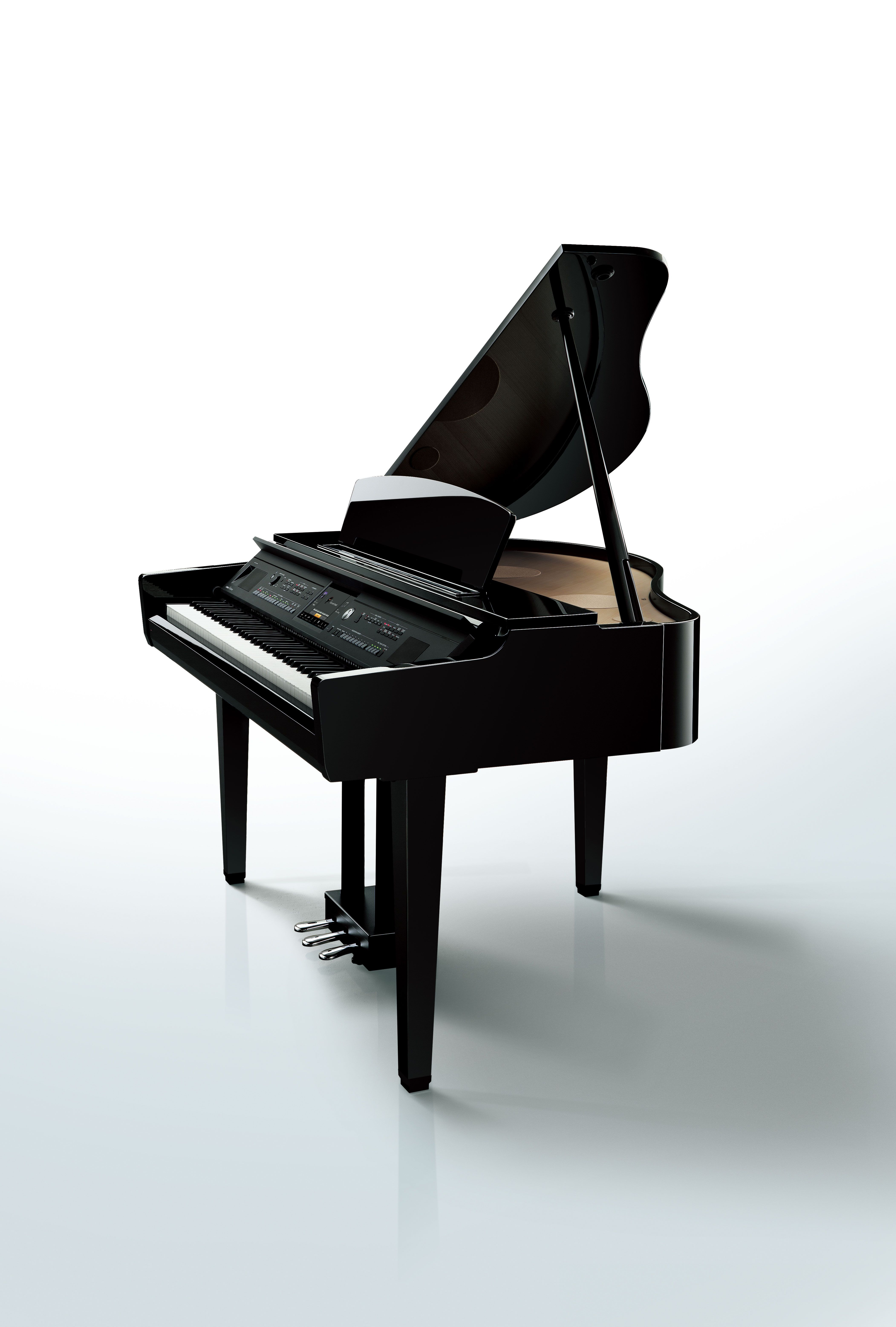 Clavinova Cvp 609gp Grand Style Digital Piano In A Polished Ebony Finish Romantic Bedroom Decor Bedroom Decor Piano Decor