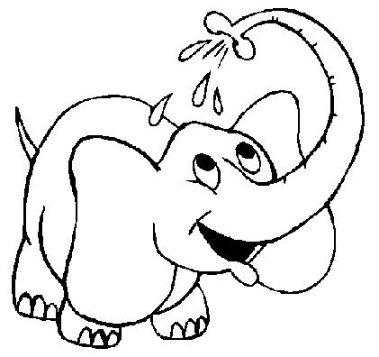 elephant coloring pages for kids preschool crafts - Elephant Coloring Pages