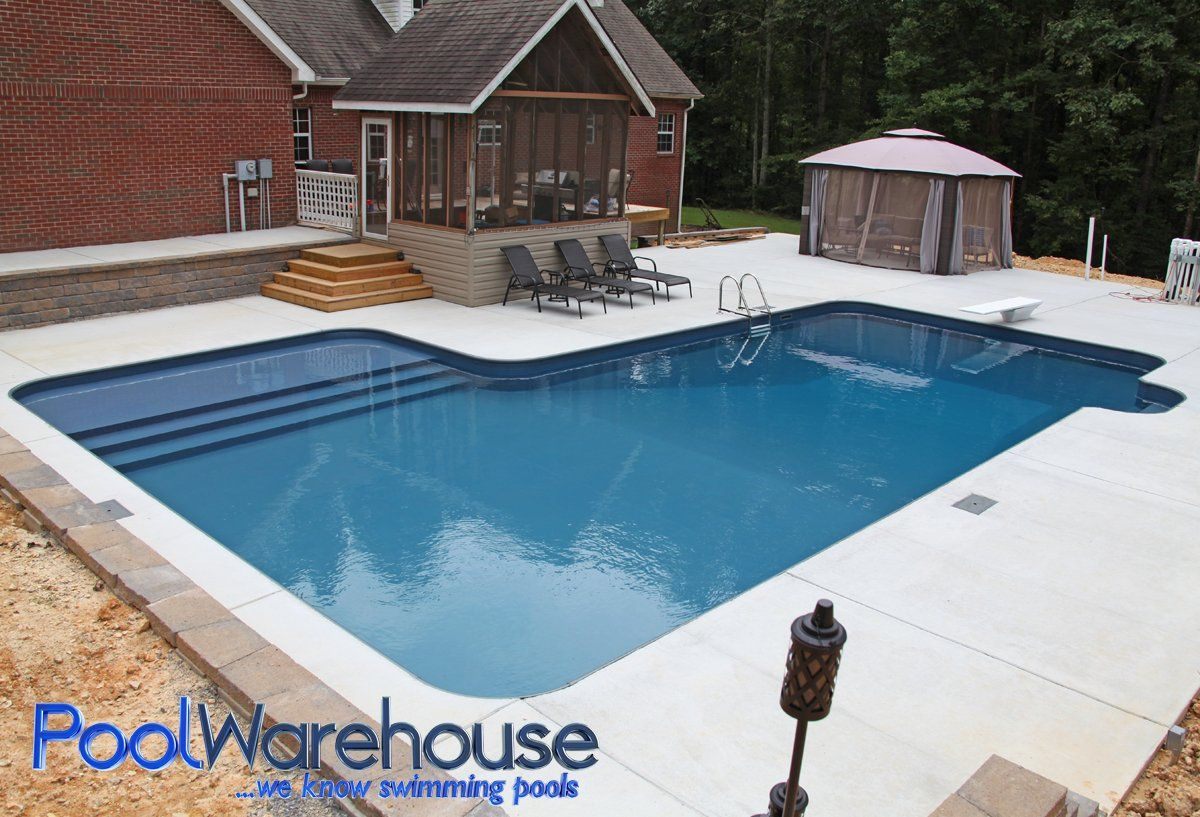 16 X 37 X 26 L Shaped Pool Kit With Tanning Ledge Step Pool Kits Building A Pool Pool Shapes