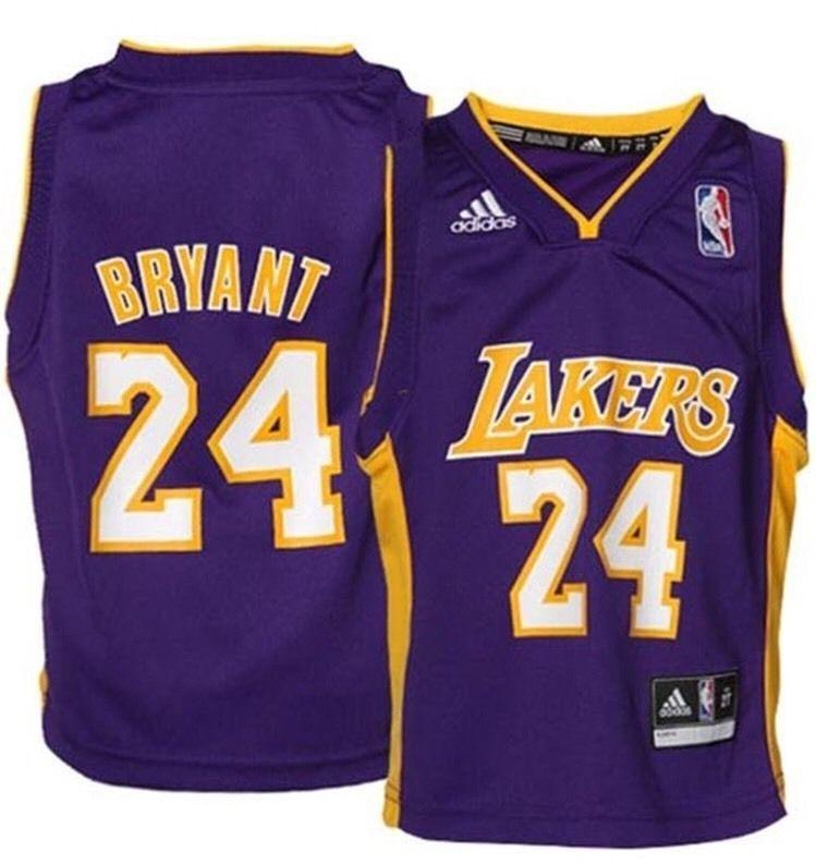 2ac124ce7 Adidas Kobe Bryant Los Angeles Lakers Toddler 2T Purple Road Jersey | eBay