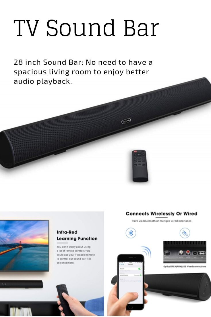 MEGACRA TV Sound Bar with Dual Bass Ports Wired and