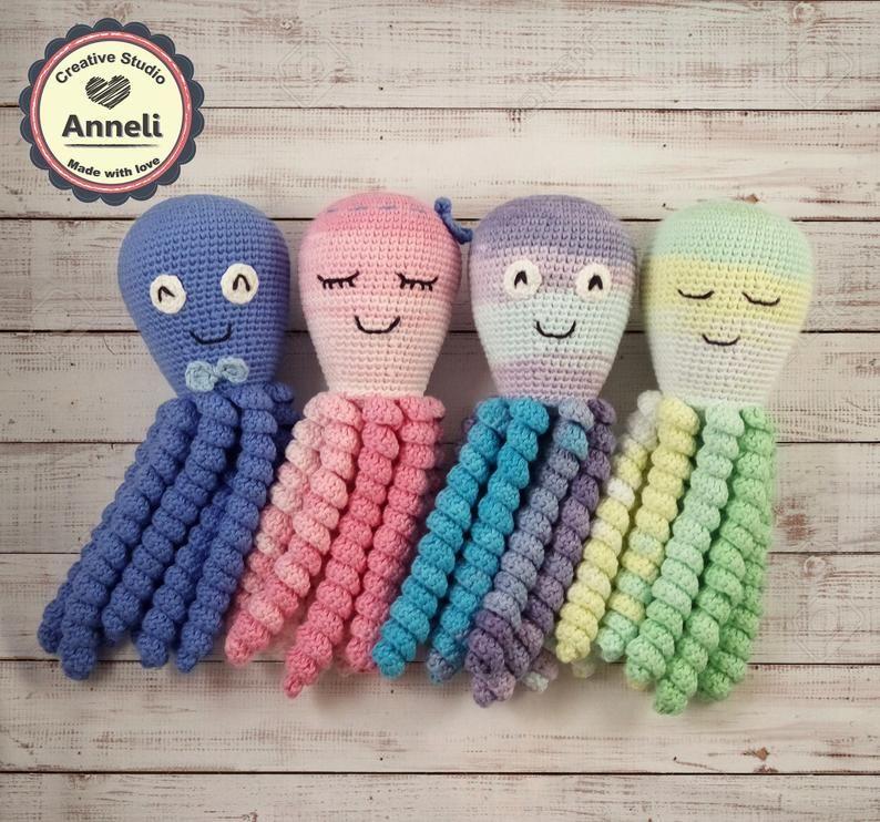 Octopus preemie/ Crochet Octopus/ Cute Octopus/ Amigurumi octopus/ Stuffed Octopus/ Baby Toy/Baby Gift/ Octopus Baby Toy/ Crochet Toy