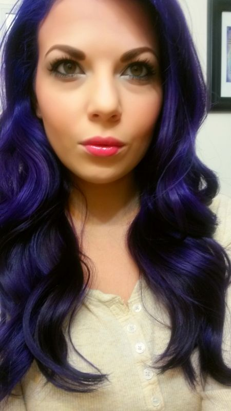 Punky Colour Violet Plum Adore Indigo Blue Indigo Hair Dyed