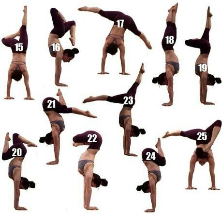 yogi handstand positions  yoga mind body  soul
