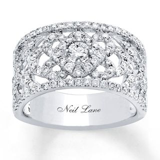 Neil Lane Designs Lace Ring 1 1 4 Ct Tw Diamonds 14k White Gold Jared In 2020 White Gold Lace Ring Diamond Wedding Bands