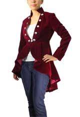 $75.95 Flocking Velvet Asymmetry Jacket