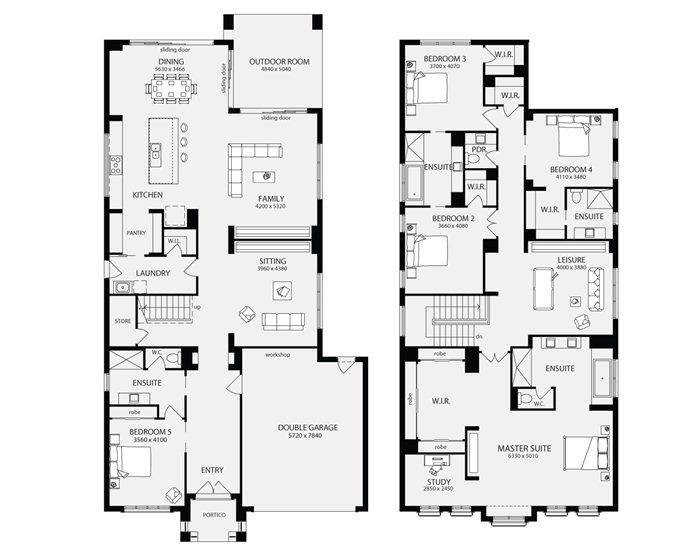 Bordeaux 50, Unit Floor Plans, Multi Dwelling House Plans