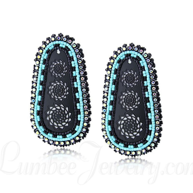 179965f4c Hand Beaded Earrings in 2019 | Lumbee Jewelry | Earrings, Beaded ...