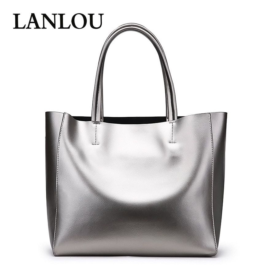 345a8f20bd09 LANLOU Genuine Leather Women bag Hand-stitched Handbag casual tote luxury handbags  women bags designer
