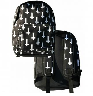 Attitude Clothing - Alternative, Gothic, Punk, Rock Clothing, Shoes, Brands + Accessories - Darkside Clothing Inverted Cross Backpack