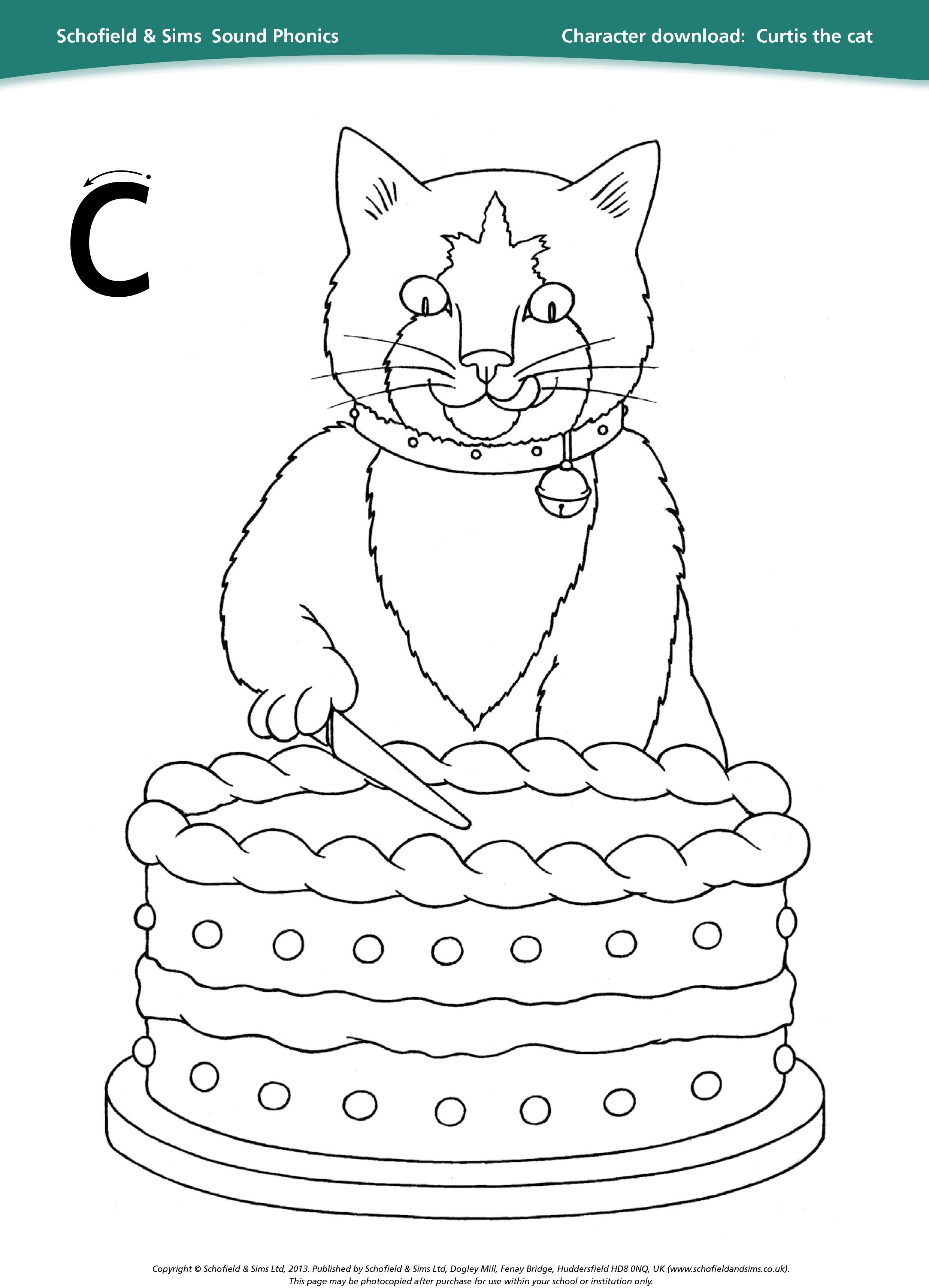 Curtis The Cat Sheet For Learning Phonics Education Ks1
