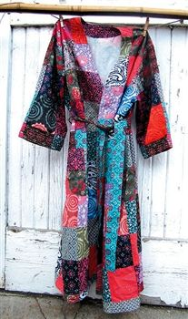 Relax in this Silk Sari Robe #fashion #style