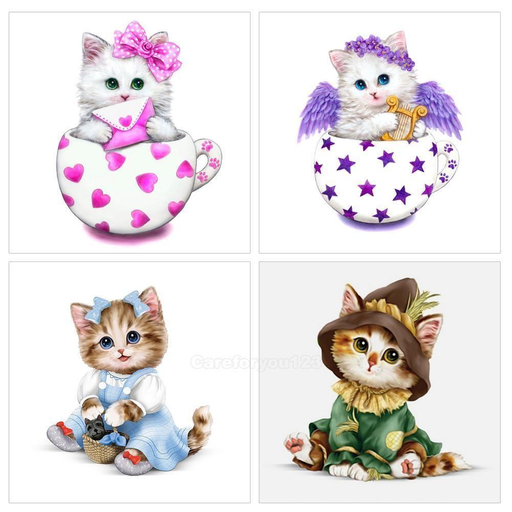 $4.23 - Cartoon Cute Cat 5D Diamond Diy Painting Craft Home Decor ...