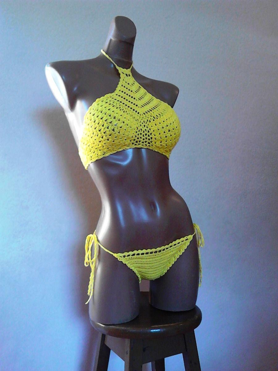 Bikini Sexy De A Baño Tejido ManoCrochetGanchillo Traje bgYyf67