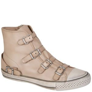 cf41aa76b60 Ash Women s Virgin Leather Trainers - Clay