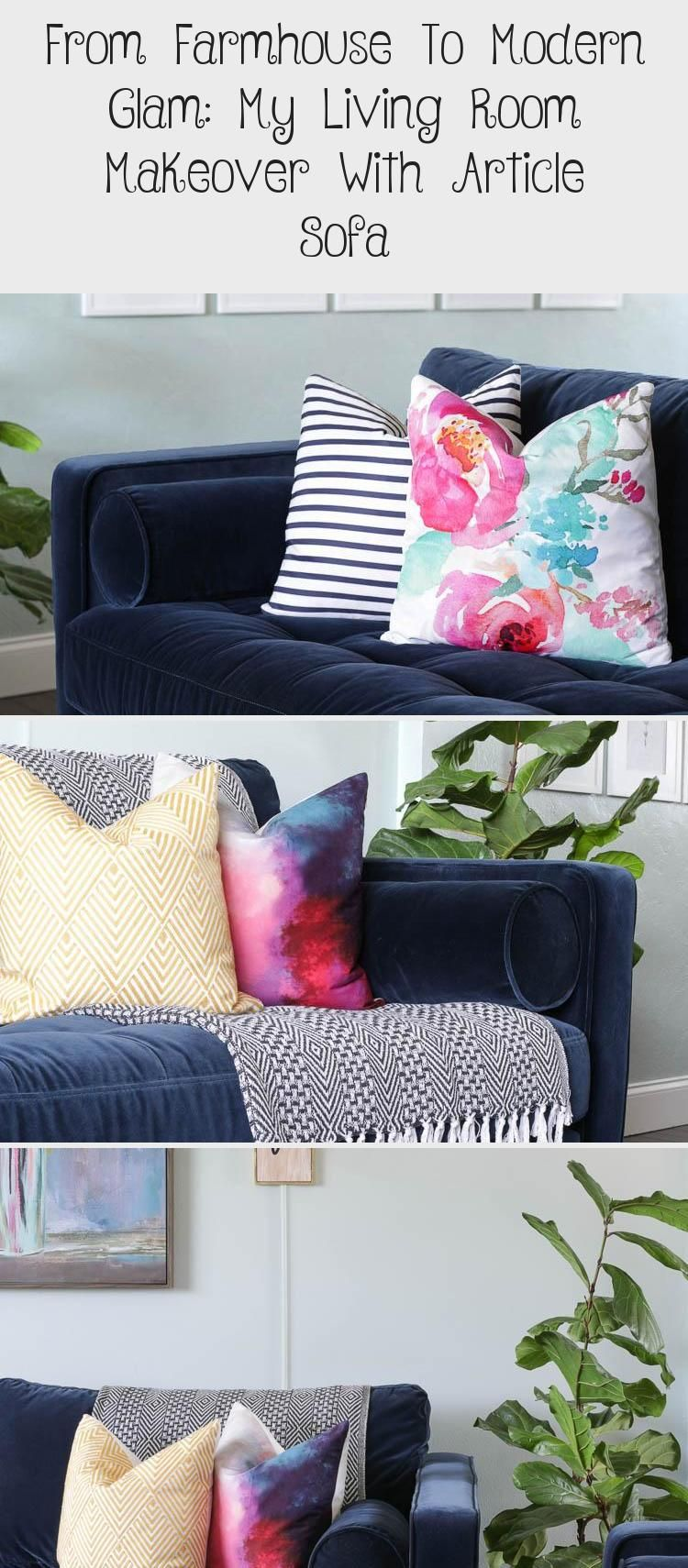 From Farmhouse To Modern Glam: My Living Room Makeover With Article Sofa – Bilgi Tahtası