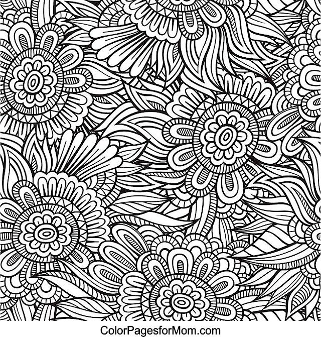Abstract Doodle Coloring Pages : Flower abstract doodle zentangle paisley coloring pages