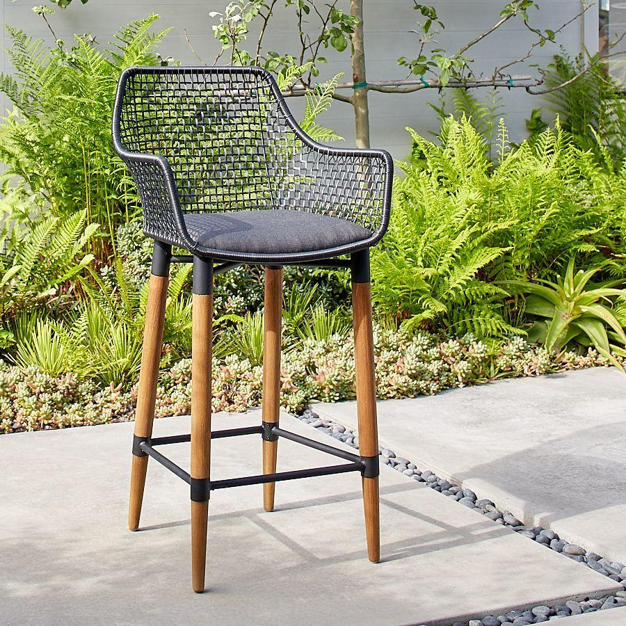 Napa Bar Chair in Charcoal - Terra Outdoor Living  Bar furniture