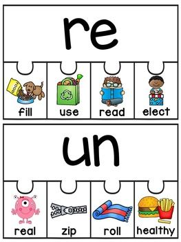 Suffix Crossword Puzzles | Prefixes and Reading specialist