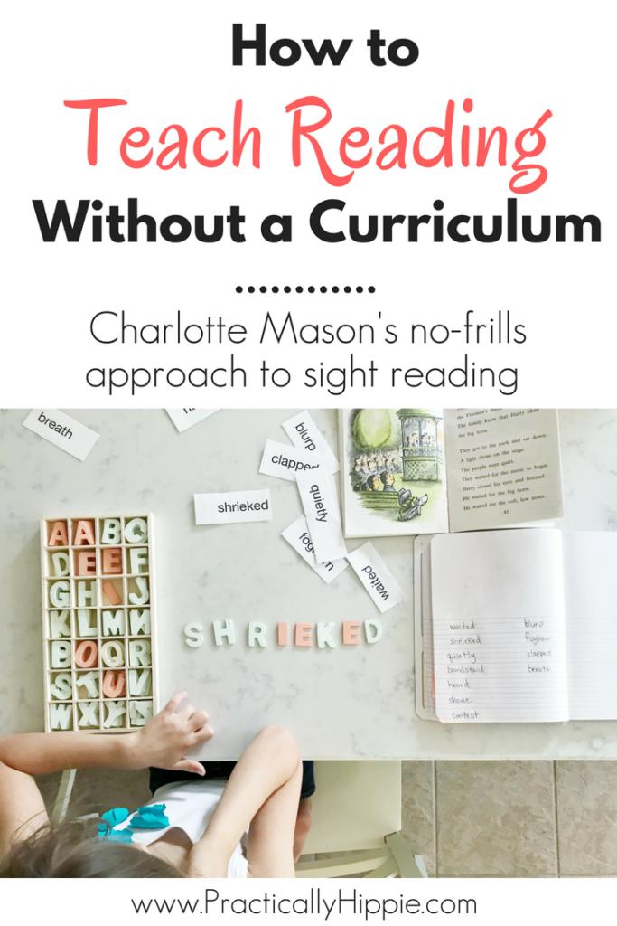 Charlotte Mason Reading Lessons   Sight Reading