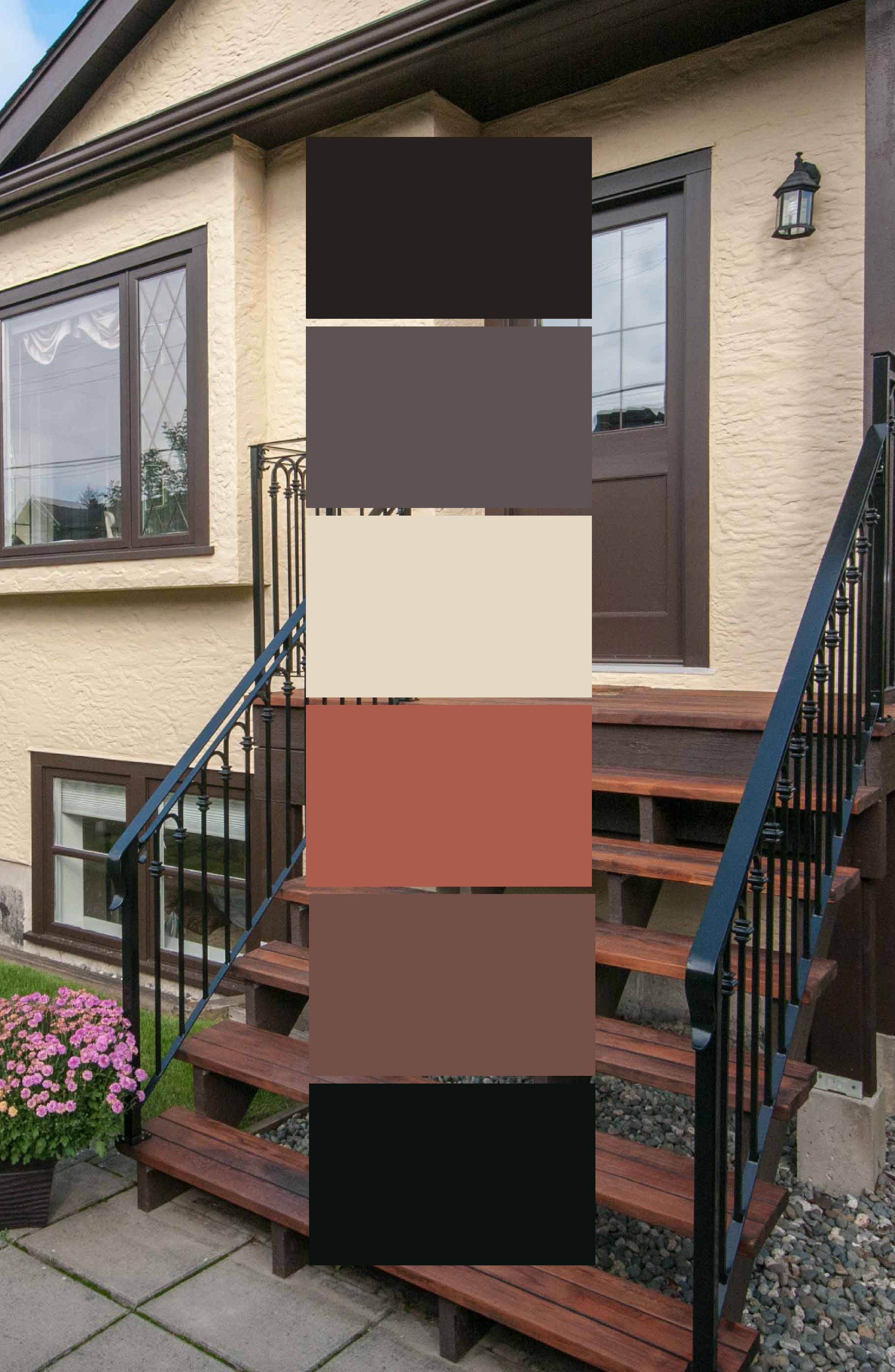 This House Is A Great Example Of An Earth Toned Colour Palette Not Every House Needs To Stand Out Wi House Paint Exterior Exterior House Colors House Painting