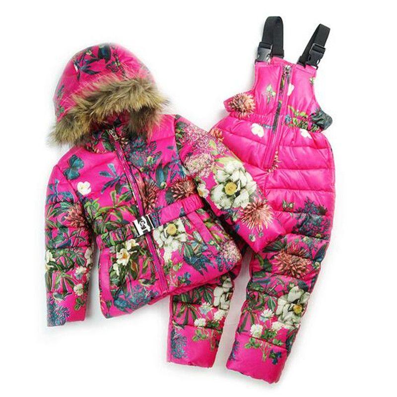 bons plans sur la mode sur des coups de pieds de pour toute la famille Pas cher Filles Combinaison de Ski D'hiver Enfants Vêtements ...