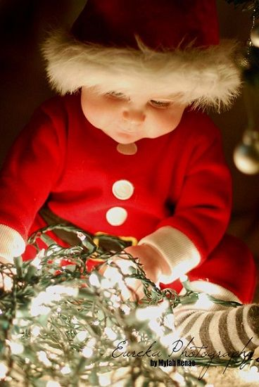 Top 10 Indoor Christmas Lights Ideas Indoor Photography  - Baby With Christmas Lights