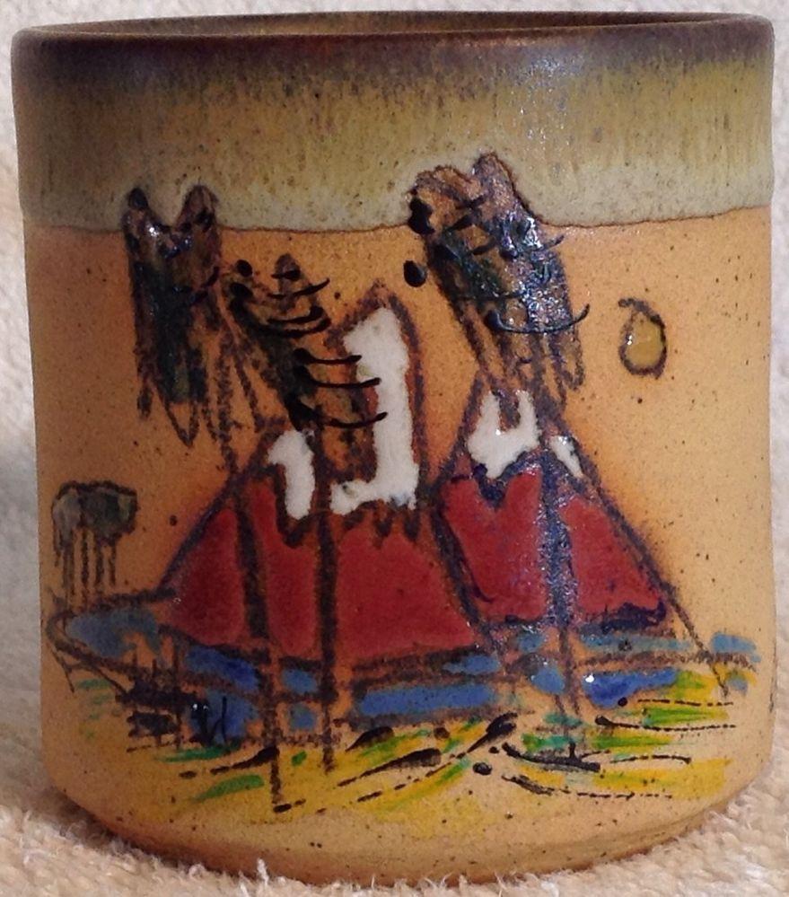 CHILE PUERTO VARAS handmade Pottery Mug Collector Mug