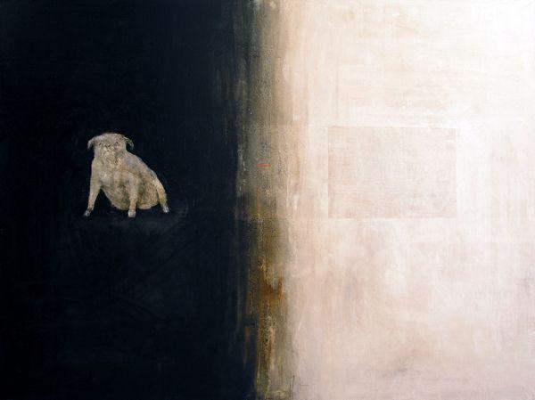 Alexey Terenin - 00357 A Bulldog. 2006. 120X160 oil, canvas